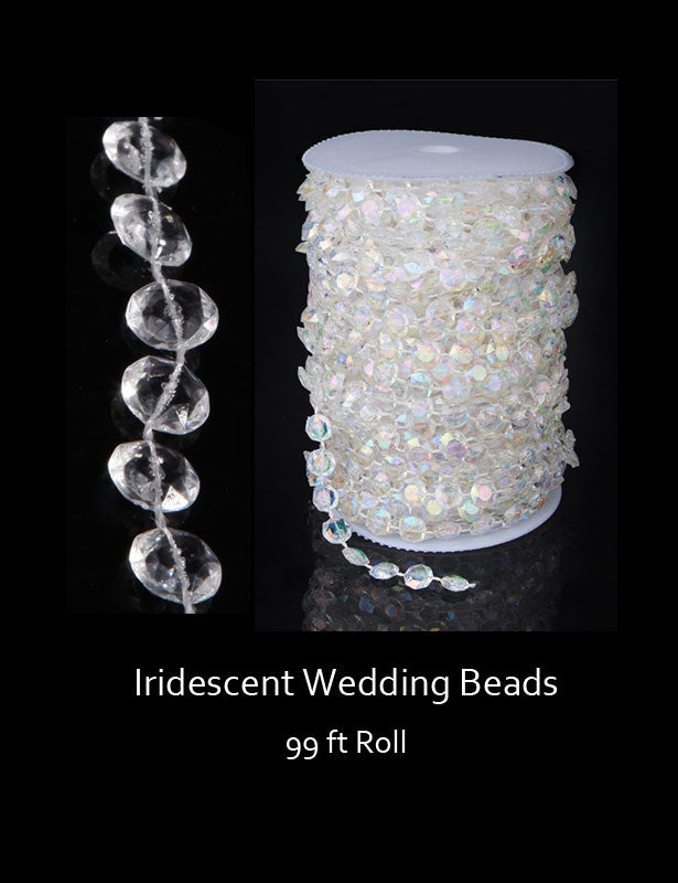 Our iridescent wedding beads are a favorite for all your DIY wedding decorating projects.