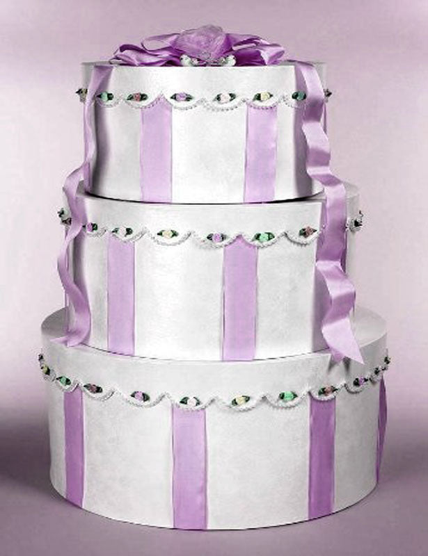 Card Box Tiered Wedding Cake (3 pieces) CLEARANCE