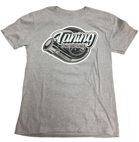 TUNING IS NOT A CRIME T-SHIRT GREY
