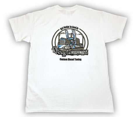 Krazy On Highways - White T-Shirt