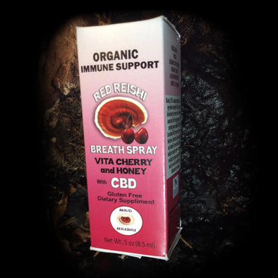 Red Reishi Organic Immune Support Breath Spray - Cherry / Reishi / Honey / CBD