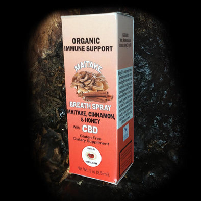 Red Reishi Organic Immune Support Breath Spray - Maitake / Cinnamon / Honey / CBD