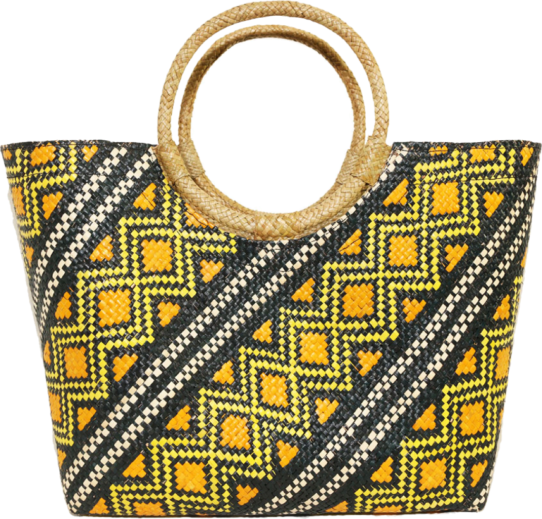 Yellow Squares | Banago Bag | JungleGurl