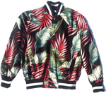 Black & Red Leaf | Kainoa Baseball Jacket | Jungle
