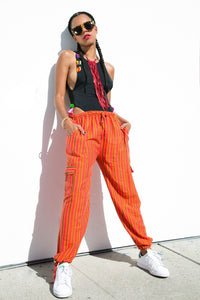 Orange Stripe | Front View | Brandy Pants | JungleGurl