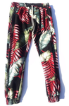 Black & Red Leaf | Kiana Jogger | JungleGurl