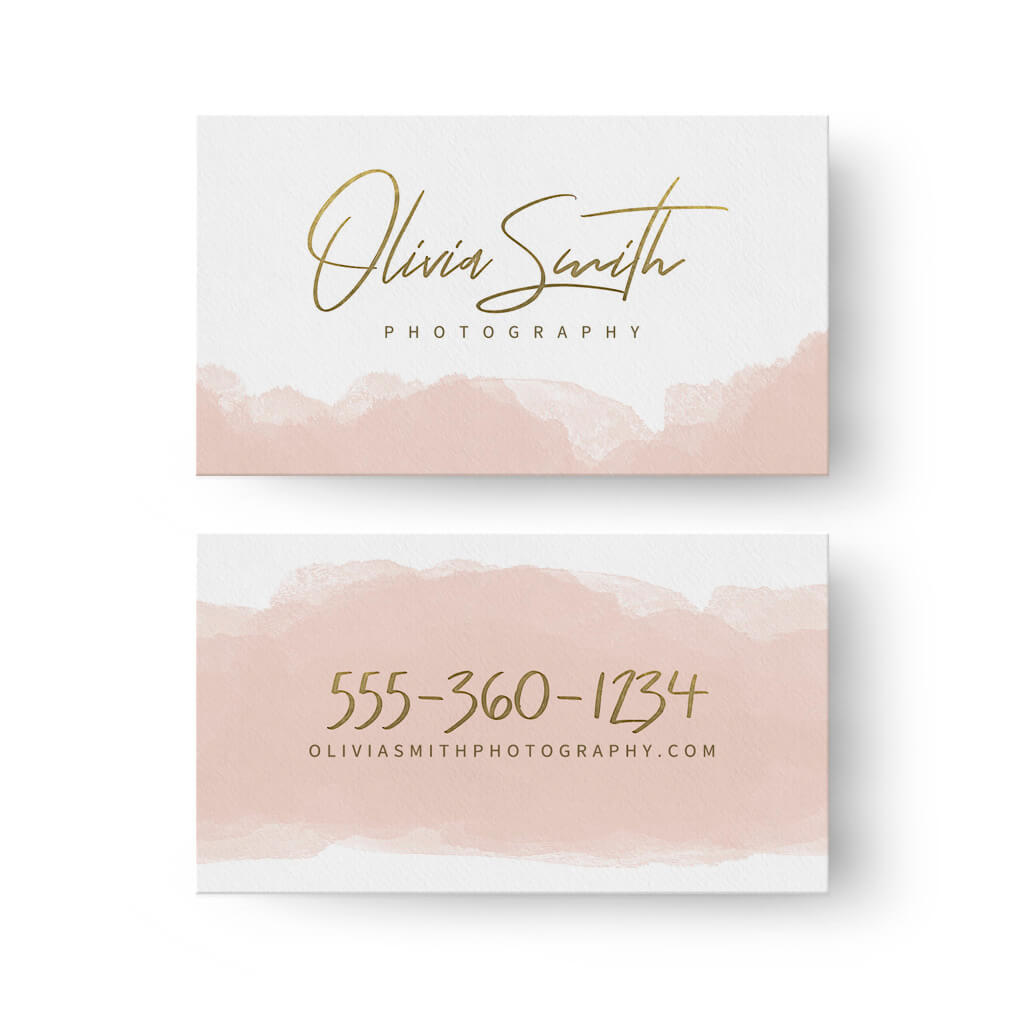 watercolor business card 3 dollar templates