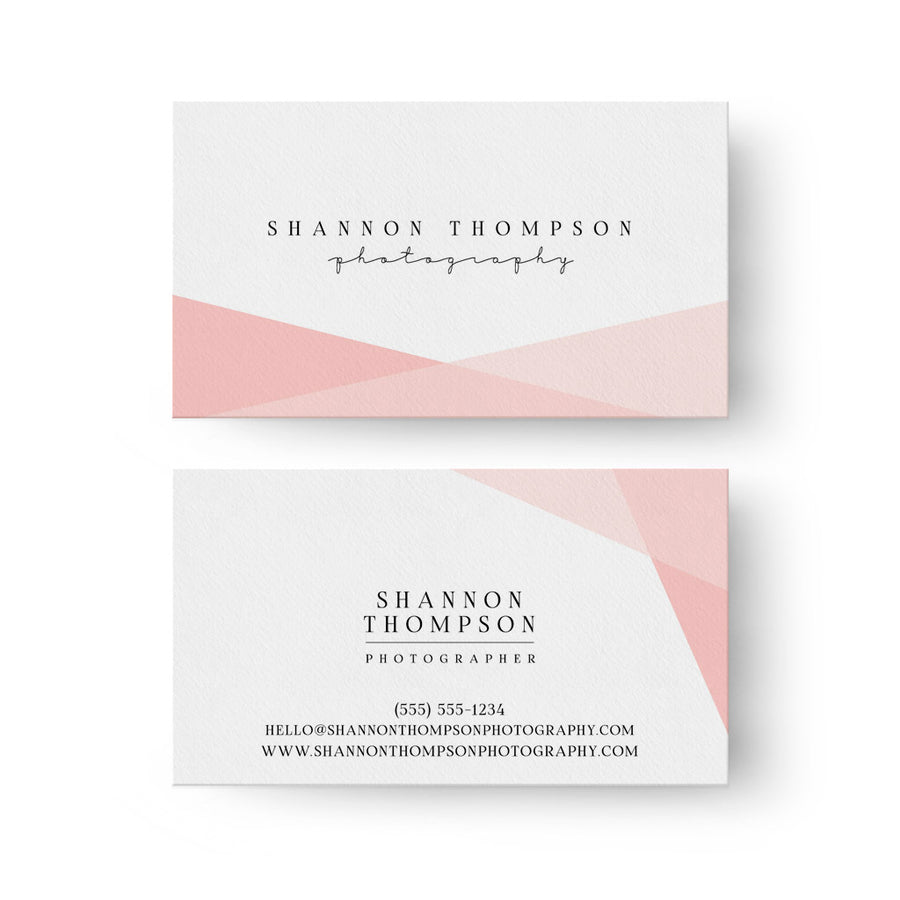 Blush | Business Card - 3 Dollar Photoshop Templates for Photographers