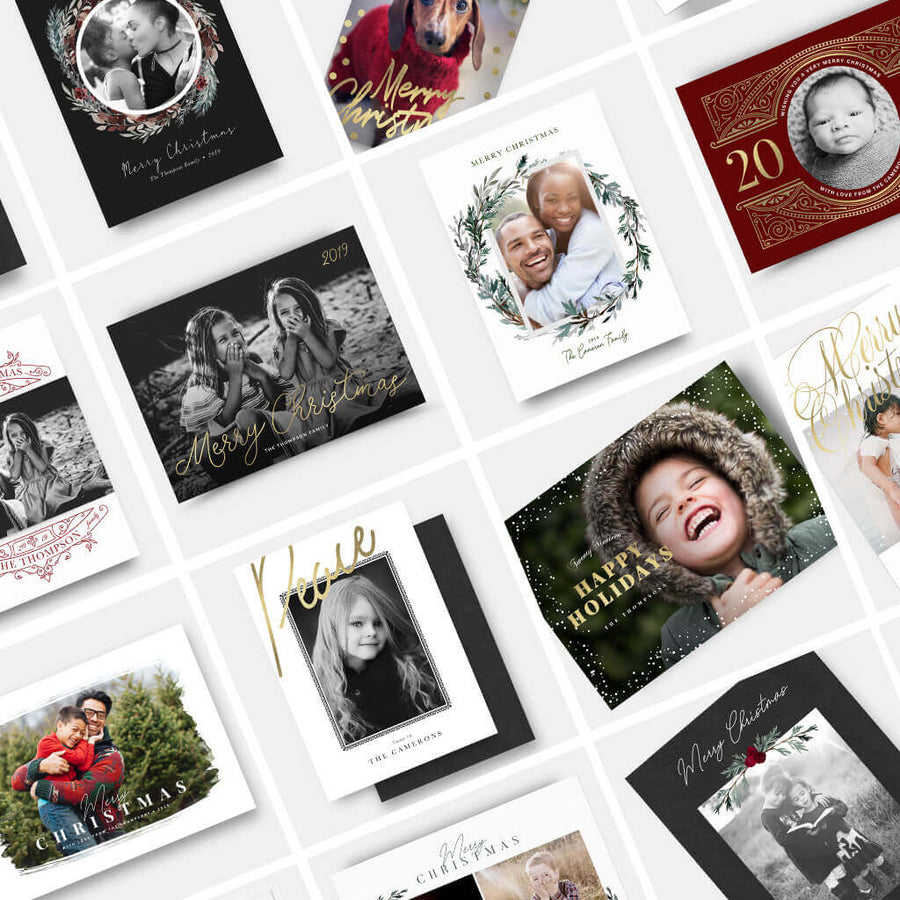 The 2019 Christmas Card Collection (25 Designs) - 3 Dollar Photoshop Templates for Photographers