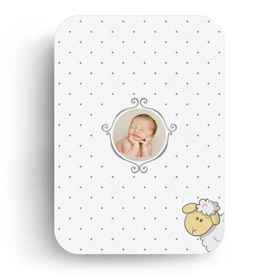Little Lamb | Birth Announcement Card - 3 Dollar Photoshop Templates for Photographers