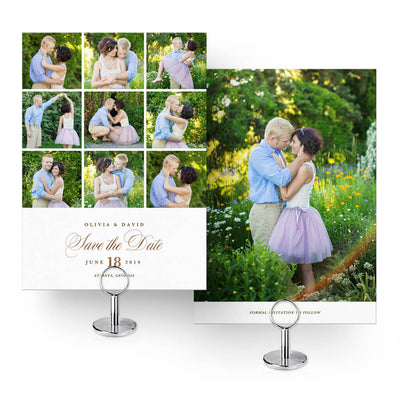 9-Up | Save-the-Date Card - 3 Dollar Photoshop Templates for Photographers