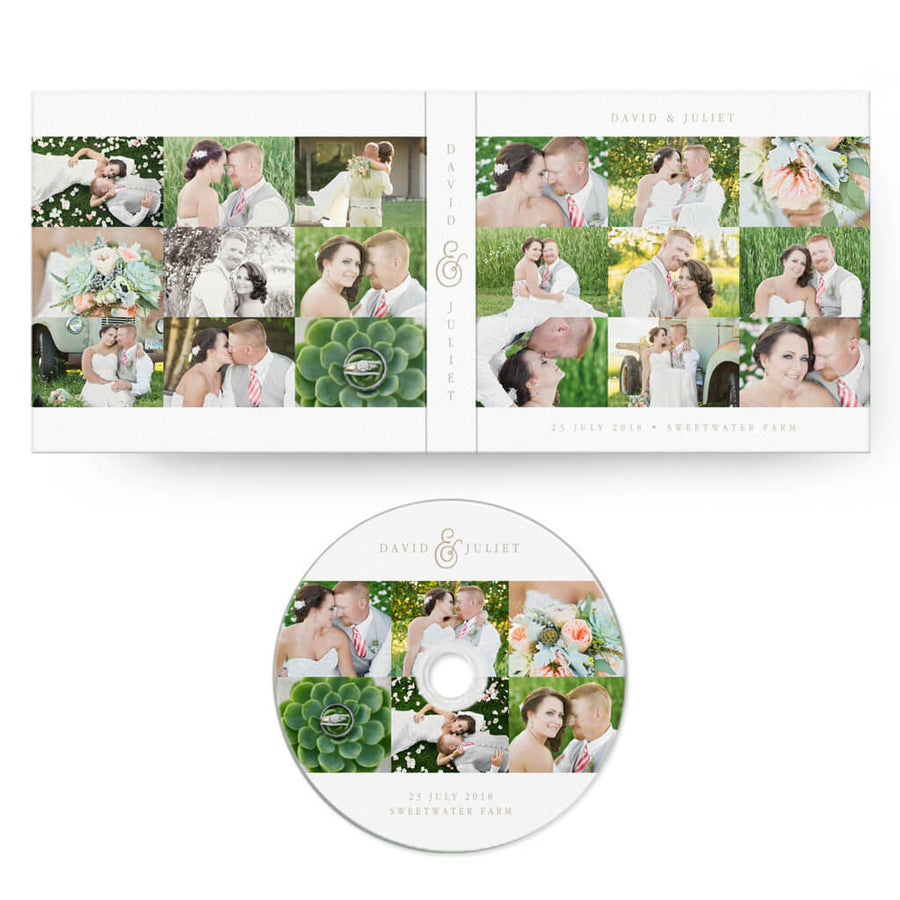 9-Up | CD Case + Optional CD Label - 3 Dollar Photoshop Templates for Photographers