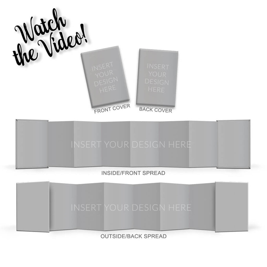Wallet Accordion Mini Book Mock Up - 3 Dollar Photoshop Templates for Photographers