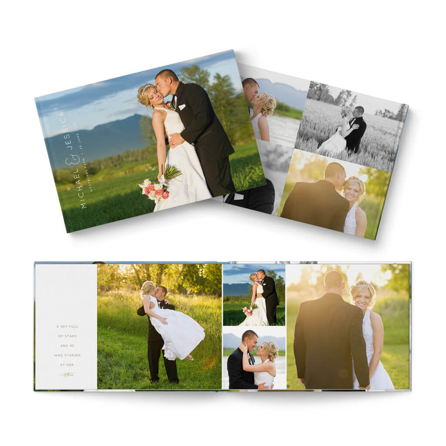 12x8 Adore Wedding - 3 Dollar Photoshop Templates for Photographers