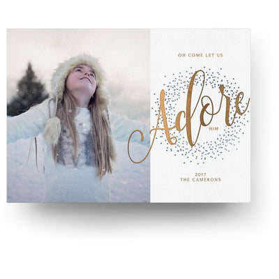 Adore Him | Christmas Card - 3 Dollar Photoshop Templates for Photographers