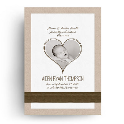 Aiden | Birth Announcement Card - 3 Dollar Photoshop Templates for Photographers