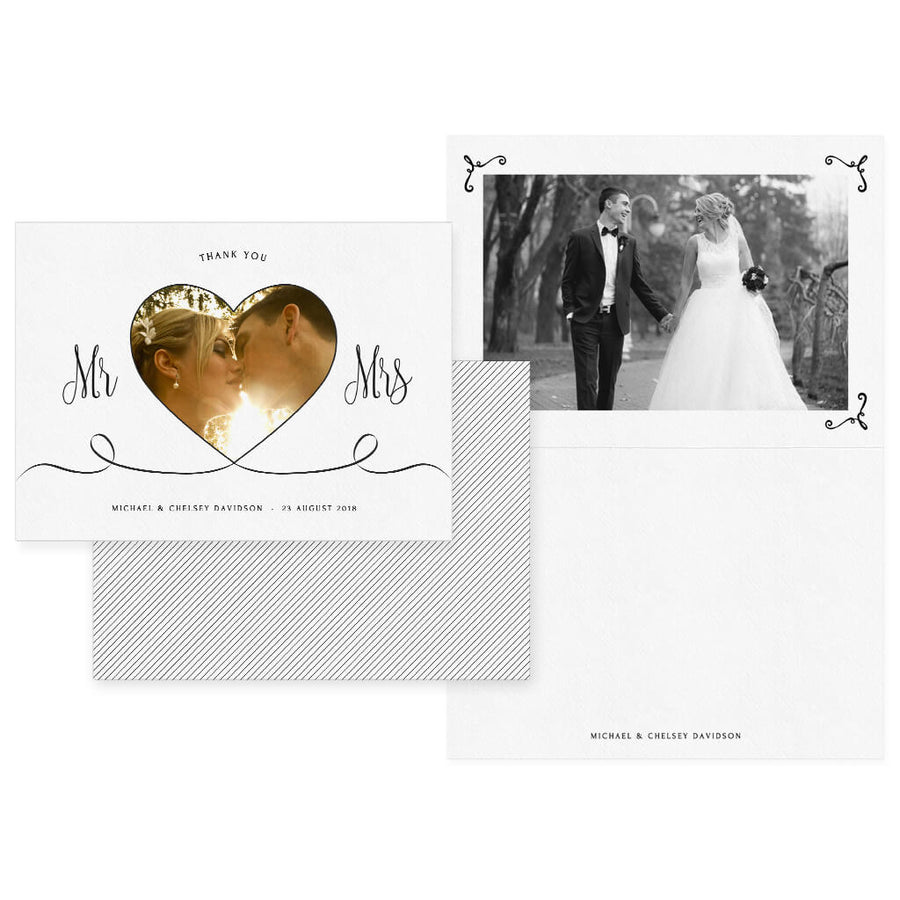 All My Heart | 5x7 Folding Thank You Card - 3 Dollar Photoshop Templates for Photographers