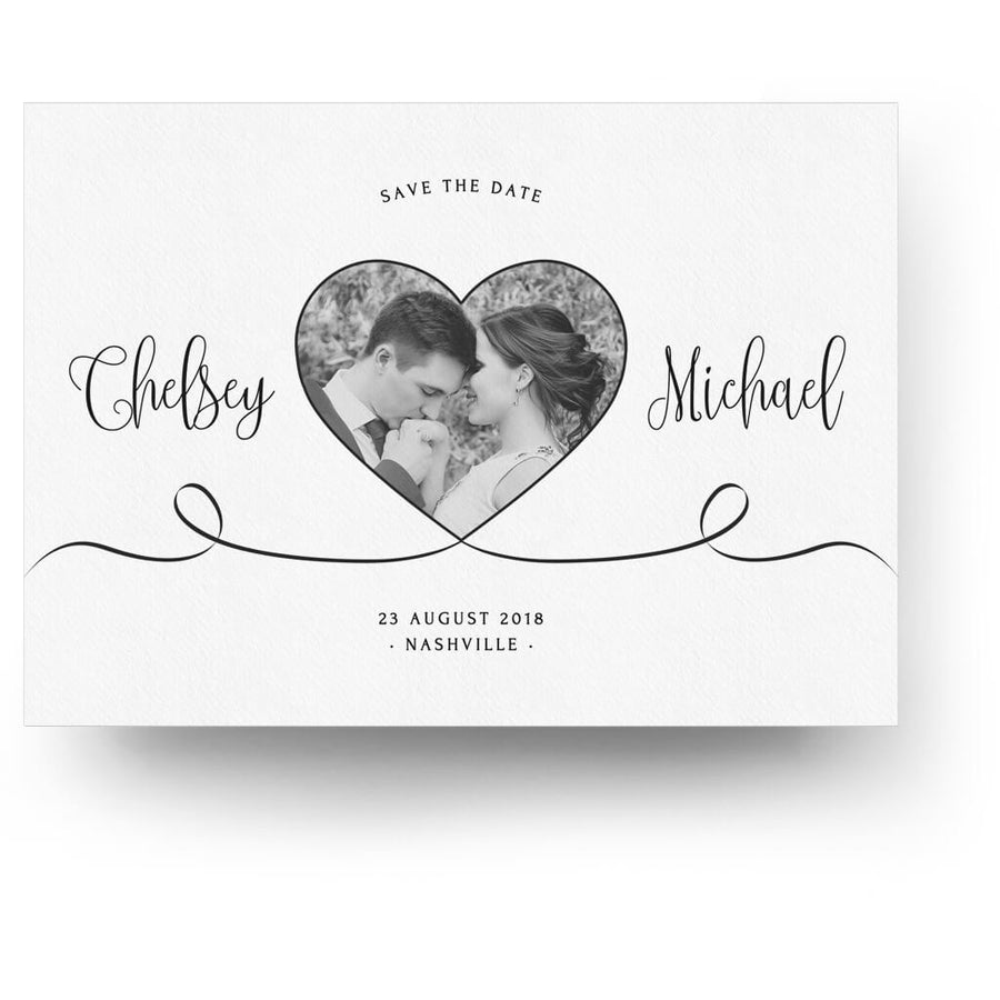All My Heart | Save The Date Card   3 Dollar Photoshop Templates For