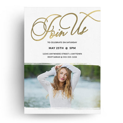 Allure | Senior Graduation Card - 3 Dollar Photoshop Templates for Photographers