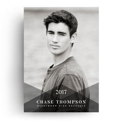 Apex | Senior Graduation Card - 3 Dollar Photoshop Templates for Photographers