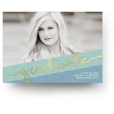 Aquamarine | Senior Graduation Card - 3 Dollar Photoshop Templates for Photographers