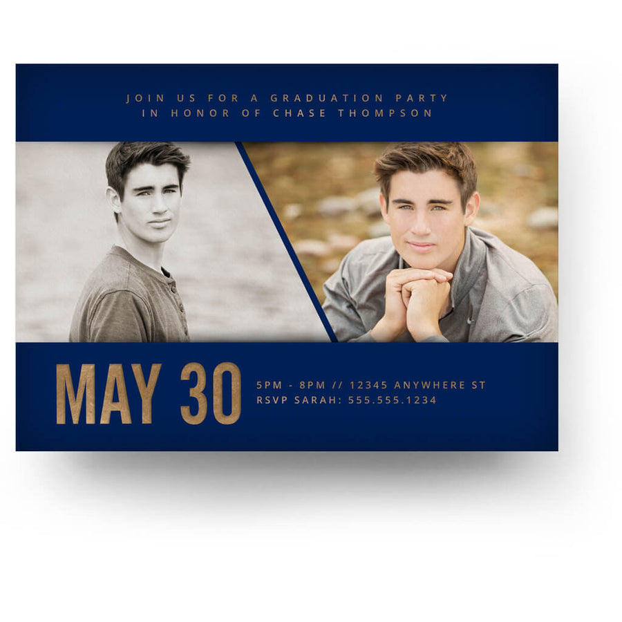 Azure | Senior Graduation Card - 3 Dollar Photoshop Templates for Photographers