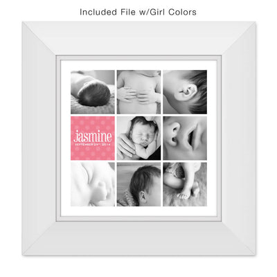 Baby Bits | 20x20 Collage Template - 3 Dollar Photoshop Templates for Photographers