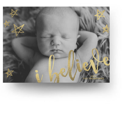 Believe | Christmas Card - 3 Dollar Photoshop Templates for Photographers