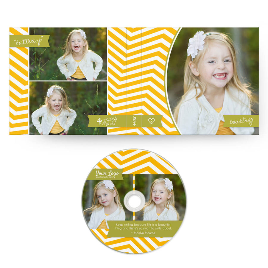 Big Tykes | CD Case + Optional CD Label - 3 Dollar Photoshop Templates for Photographers