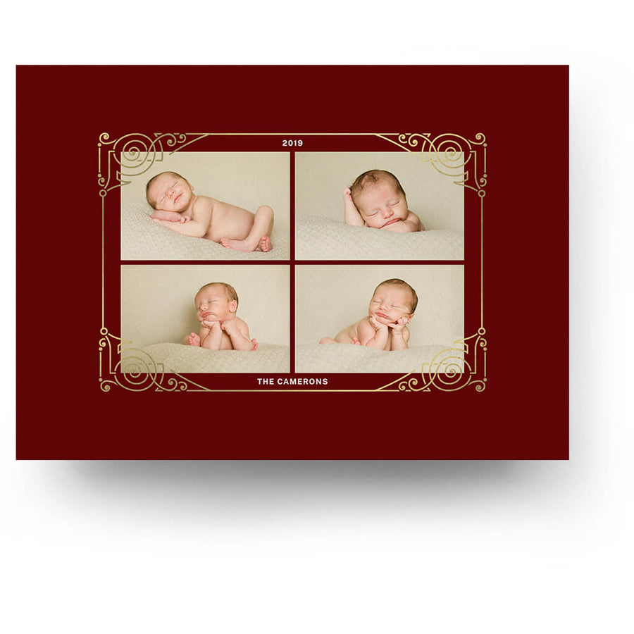 Big Year | Christmas Card - 3 Dollar Photoshop Templates for Photographers