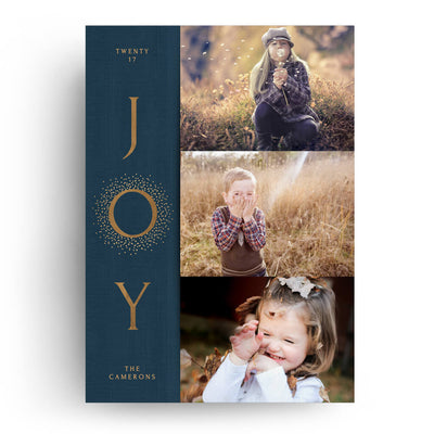 Blue Joy | Christmas Card - 3 Dollar Photoshop Templates for Photographers