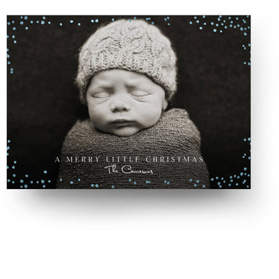 Blue Snow | Christmas Card - 3 Dollar Photoshop Templates for Photographers