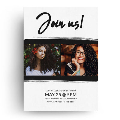 Bold Script | Senior Graduation Card - 3 Dollar Photoshop Templates for Photographers