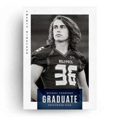 Bold | Senior Graduation Card - 3 Dollar Photoshop Templates for Photographers