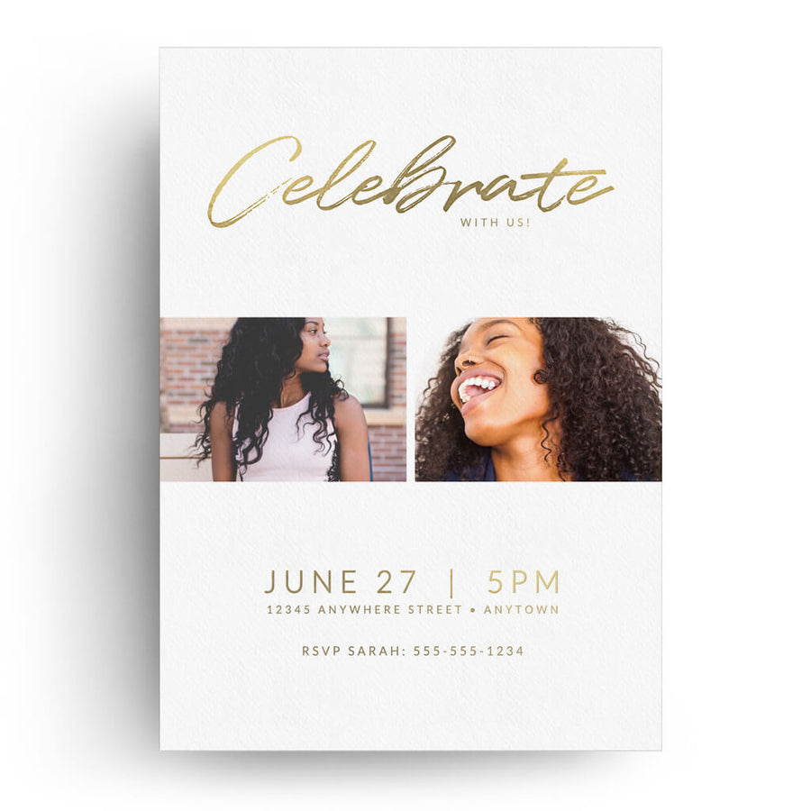 Bright | Senior Graduation Card - 3 Dollar Photoshop Templates for Photographers