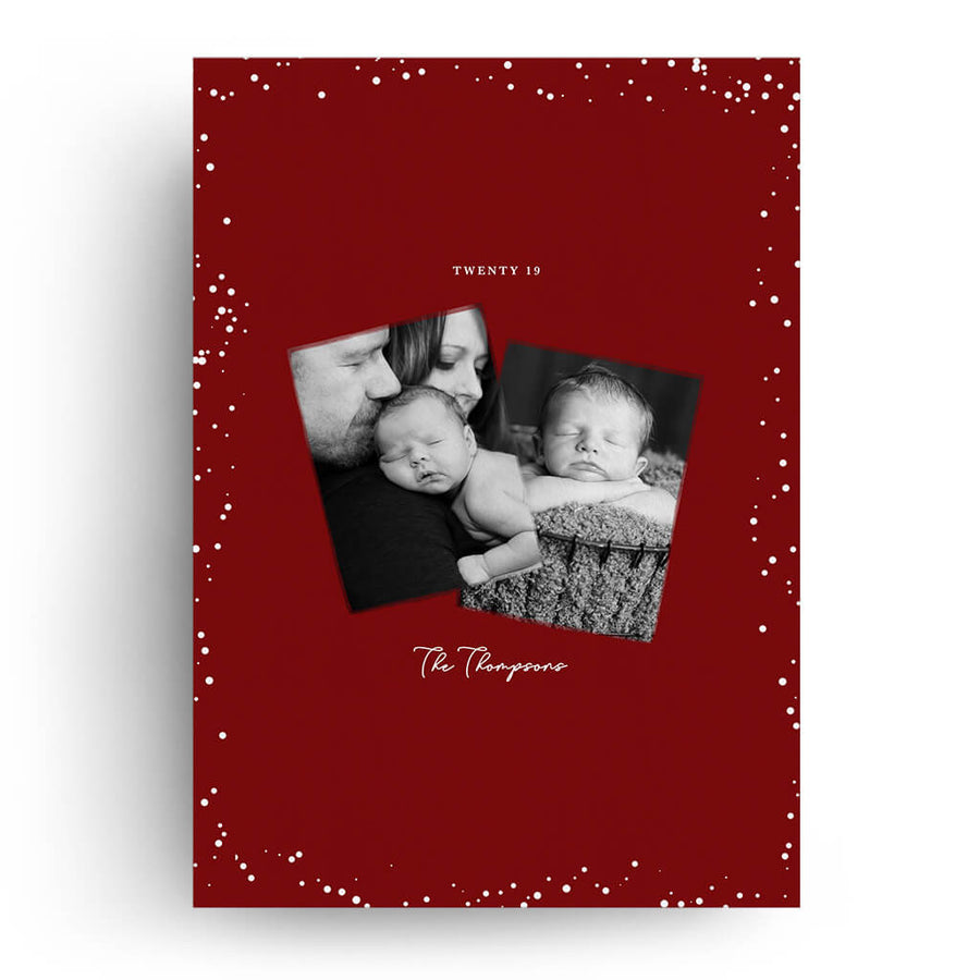 Brush Stroke | Christmas Card - 3 Dollar Photoshop Templates for Photographers