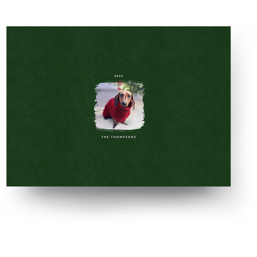 Brushed | Christmas Card - 3 Dollar Photoshop Templates for Photographers
