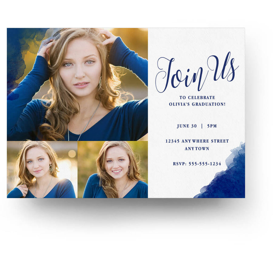 Brushed | Senior Graduation Card - 3 Dollar Photoshop Templates for Photographers