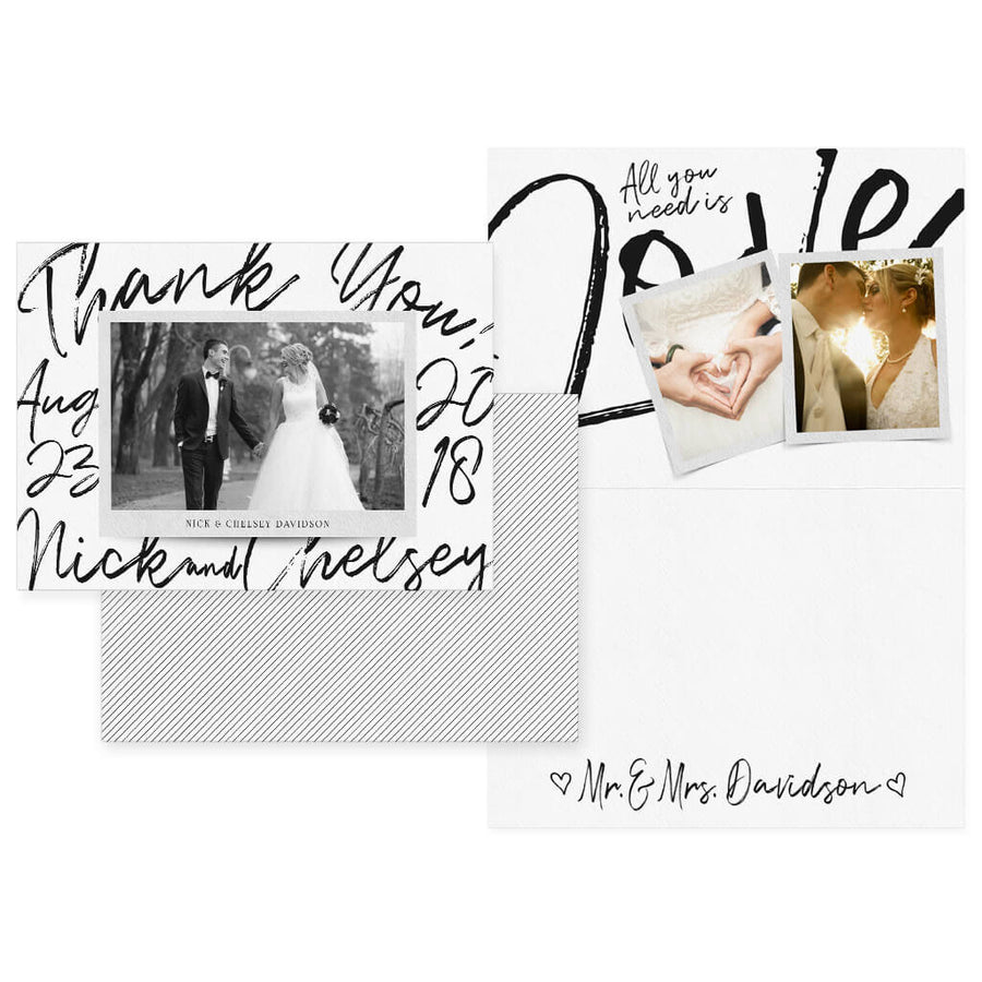 By Hand | 5x7 Folding Thank You Card - 3 Dollar Photoshop Templates for Photographers