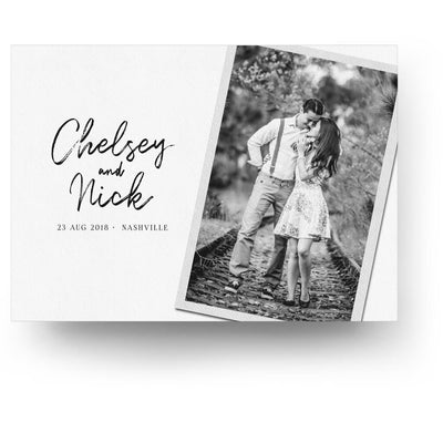 By Hand | Save-the-Date Card - 3 Dollar Photoshop Templates for Photographers