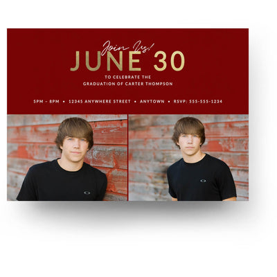 Center Stage | Senior Graduation Card - 3 Dollar Photoshop Templates for Photographers