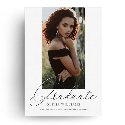 Centered | Senior Graduation Card - 3 Dollar Photoshop Templates for Photographers