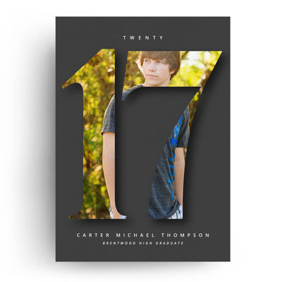 Charcoal | Senior Graduation Card - 3 Dollar Photoshop Templates for Photographers