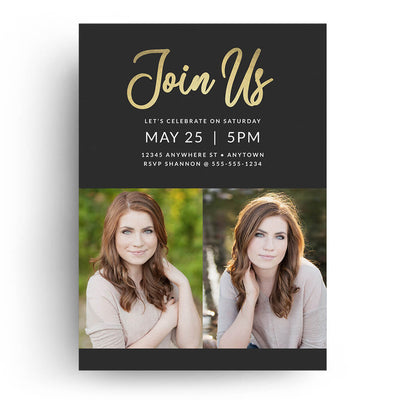 Charming | Senior Graduation Card - 3 Dollar Photoshop Templates for Photographers