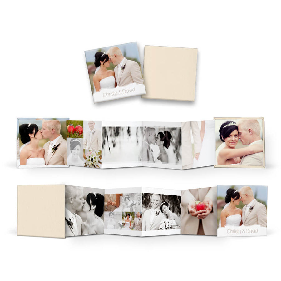 Chic | Square Accordion Mini Book - 3 Dollar Photoshop Templates for Photographers