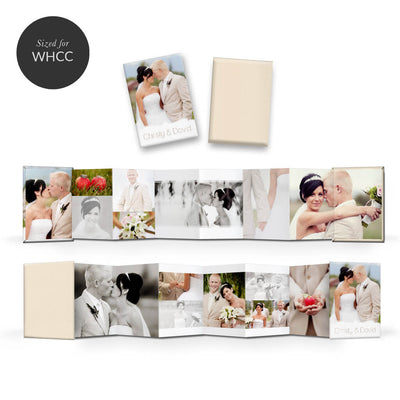 Chic | Mini Accordion Book - 3 Dollar Photoshop Templates for Photographers