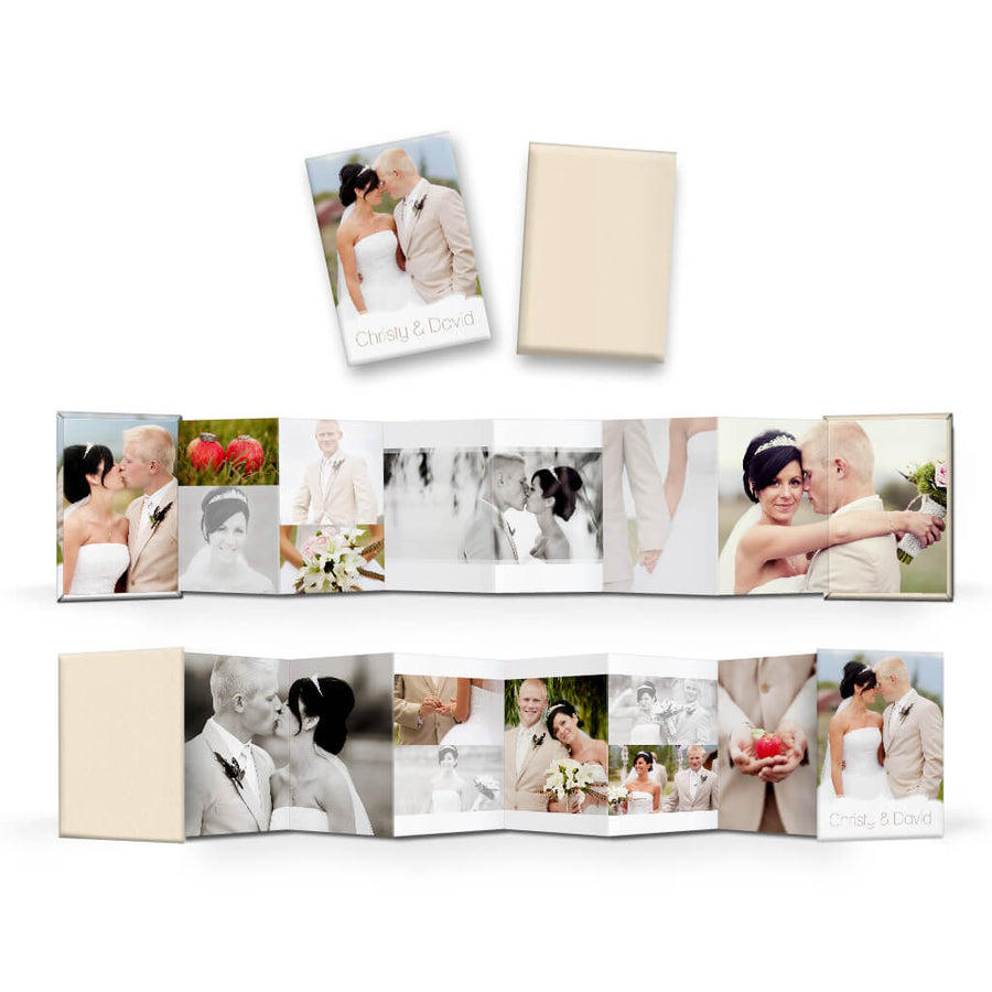 Chic | Wallet Accordion Mini Book - 3 Dollar Photoshop Templates for Photographers