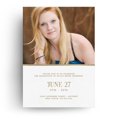 Chic Circles | Senior Graduation Card - 3 Dollar Photoshop Templates for Photographers