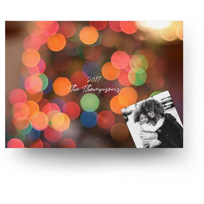 Christmas Bokeh | Christmas Card - 3 Dollar Photoshop Templates for Photographers