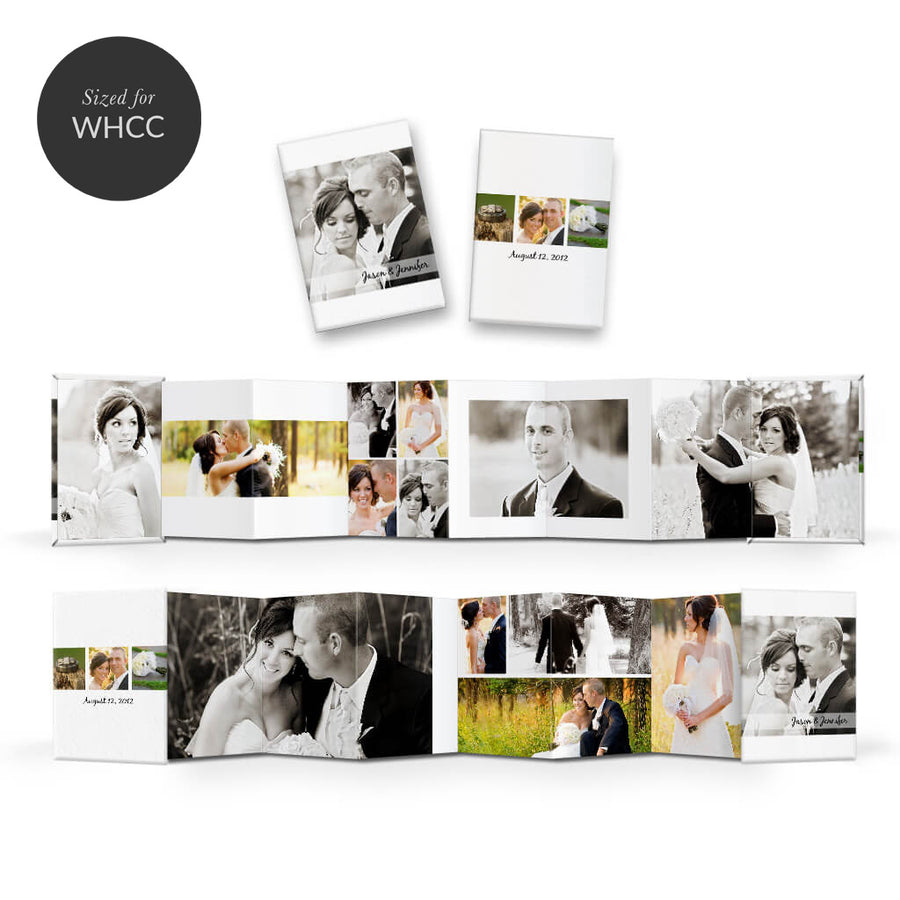 Classic | Mini Accordion Book - 3 Dollar Photoshop Templates for Photographers